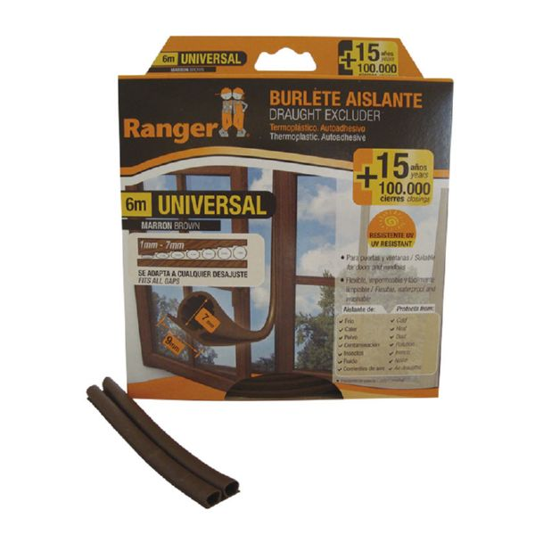 BURLETE UNIVERSAL 9 MM 6 MT MARRON